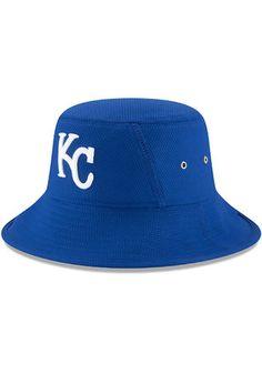 New Era Kansas City Royals Mens Blue 2017 Clubhouse Bucket Flex Hat