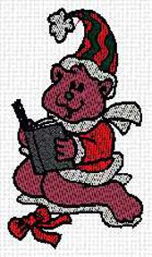 SANTA BEAR WITH BOOK