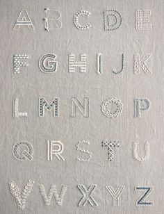 Learn to Embroider an Alphabet Sampler Kit