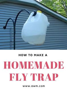 How to Make a Homemade Fly Trap - You can use this inside or outside, and you probably already have all the supplies needed. I'll be using this all summer long.