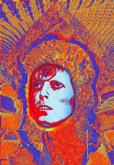 Bowie Moonage Daydream v18. Photo Art by Mick Rock
