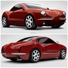 Retro Cars, Vintage Cars, Design Autos, Vw Pickup, Volkswagen Karmann Ghia, Vw Cars, Sport Cars, Motor Car, Custom Cars