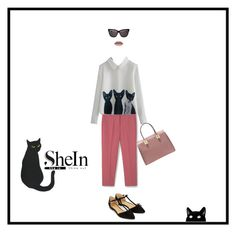 """""""Cats"""" by beatrice-g970 on Polyvore featuring moda, MANGO, Accessorize, Christian Dior e Pink"""