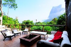 Where I'm staying when I go to Rio - the view to Pedra Gavea from the Tuakaza Hotel - in Floresta da Tijuca!
