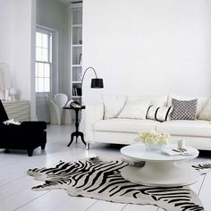 Inspire White And Black Living Room Designs