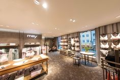Mey lingerie store by Konrad Knoblauch, Constance – Germany Shop Interior Design, Retail Design, Design Blog, Layout Design, Lingerie Store Design, Underwear Store, Retail Architecture, Lounge Areas, Stores