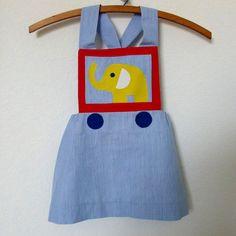 elephant little girl's dress