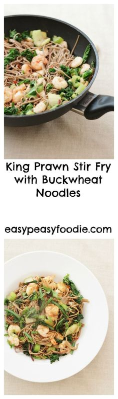 Totally delicious, healthy and filling – this King Prawn Stir Fry is packed full of Sirtfoods and makes the perfect start to the Sirtfood Diet, but is a great recipe for anyone who wants to benefit from a few Sirtfoods in their life #prawns #prawnstirfy #stirfry #buckwheat #buckwheatnoodles #sobanoodles #sirtfood #sirtfooddiet #sirtfoodrecipes #glutenfree #dairyfree #easymidweekmeals #easymeals #midweekmeals #easydinners #dinnertonight #dinnertonite #familydinners #familyfood… Great Recipes, Healthy Recipes, Healthy Food, Favorite Recipes, Healthy Dinners, Family Recipes, Dinner Recipes, Healthy Eating, Prawn Stir Fry