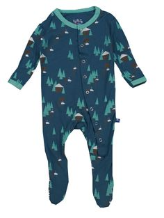 http://www.babytoys6months.com/category/kickee-pants/ Kickee Pants Midnight Chairlift Footie - Baby Boy
