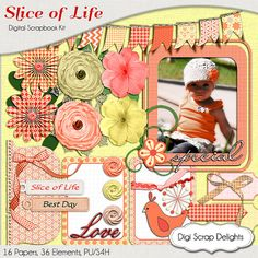 50% OFF TODAY Slice of Life Digital Scrapbook by DigiScrapDelights  #Scrapbooking #DigiScrapDelights #ClipArt #scrapbookingkits