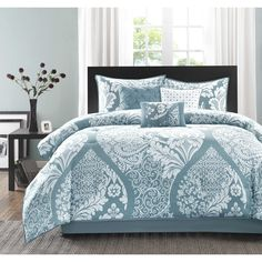Madison Park Franchesca 7-Piece Cotton Printed Comforter Set - Overstock Shopping - Great Deals on Madison Park Comforter Sets