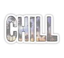 """CHILL"" palm trees tumblr sticker Sticker"