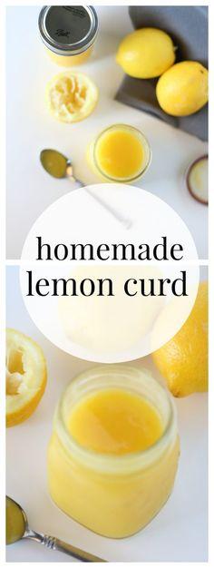 Homemade Lemon Curd - The Taylor House. Oh how I love lemon! Lemon Desserts, Lemon Recipes, Fruit Recipes, Just Desserts, Delicious Desserts, Cooking Recipes, Yummy Food, Thm Recipes, Pastry Recipes