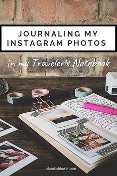 Journaling my Instagram photos in my Traveler's Notebook:   This summer I had my five year instagram anniversary and I thought it would be fun to print out some of my photos from the five years in order to create a non-digital record of my memories. #journaling #travelersnotebook Instagram Tips, Instagram Accounts, Mobile Photo Printer, How To Use Hashtags, Creative Writing Classes, Doodle, Mobile Photos, Square Photos, Photo Journal