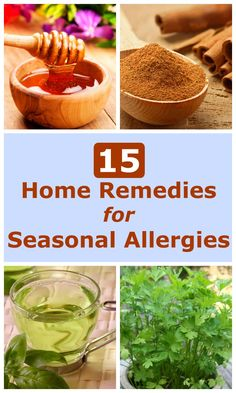 Season allergies — also called hay fever and allergic rhinitis — affects millions of people worldwide. Symptoms include sneezing, stuffiness, a runny nose and itchiness in your nose, the roof of your mouth, throat, eyes or ears. There are some very good natural home remedies for seasonal allergies that you might want to try first, before resorting to over-the-counter allergy medications. / 15 #HomeRemedies for #SeasonalAllergies - Selfcarers / #hayfever #allergicrhinitis