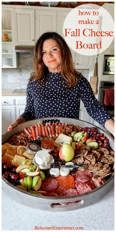 How to make a Fall Cheese Board cheese party Party Food Platters, Cheese Platters, Food Trays, Best Cheese, Meat And Cheese, Wine Cheese, Housewarming Party, Trader Joe's, Feta