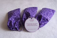 This travel sachet set of three washable cotton sachets is the perfect accessory for the traveler. Each sachet holds a 3x5 inch muslin bag stuffed full of certified organic French lavender which can turn a stuffy hotel room into a calming, restful retreat.  Keep a sachet handy in your carry-on travel bag to easily relief stressful moments merely by taking a deep whiff of the calming fragrance.