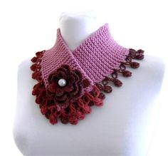 cuello de punto cálido invierno tejido a mano por likeknitting