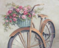 Roses in your bicycle basket