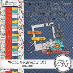 Free Mini Kit from Created By Jill Scraps {DigiScrap Parade August 2015: World Geography 101}