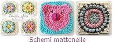 Come fare un quiet book - Tutorial e Cartamodelli. Crochet Granny, Crochet Hats, Quiet Book Tutorial, Sunburst Granny Square, Magic Loop, Amigurumi Tutorial, Labor, Tapestry Crochet, Drops Design