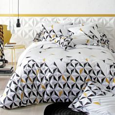 3 suisses Housse de couette Geometric Decor, Home Bedroom, Bedrooms, Bedroom Ideas, Master Bedroom, Home And Deco, Diy Room Decor, Home Decor, Bed Spreads