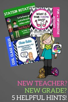 5 Tips for New (or New-To-Grade) Teachers.  This blog post will give you the hints and resources you need to make your transition smooth for you and your new students!  I've compiled resources to make your life easier because I've been in your shoes!  I know EXACTLY what it's like to have to start fresh with an empty classroom and new curriculum.  I hope these tips will save you time and lower your stress level!
