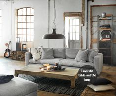 "I prefer thicker lines, and a little more ""cozy"", but this is right in line with my style...  STYLIZIMO BLOG: { Industrial living room }"