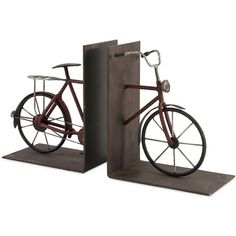 Rush Bicycle Book Ends (Set of 2)