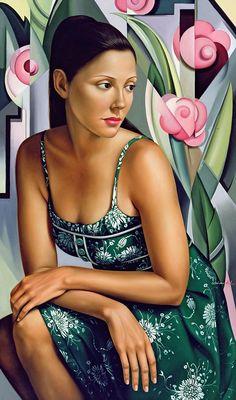 Belle de Jour Canvas Art Print by Catherine Abel Australian Painters, Australian Artists, Tamara Lempicka, Arte Art Deco, Retro Kunst, Retro Poster, Art Deco Period, Art Moderne, Art Deco Fashion