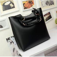 USD10.99Fashion Solid Zipper Black PU Clutches Bag