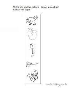 Játékos tanulás és kreativitás: Kisbetűkben képek a hangfelismerés gyakorlásához Dysgraphia, Letters, Teaching, Education, School, Books, Valentino, Workout, Modern