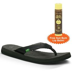 Sanuk Yoga Mat Plus FREE Sun Bum Lip Balm >> Unbelievable  item right here! : Sanuk flip flops