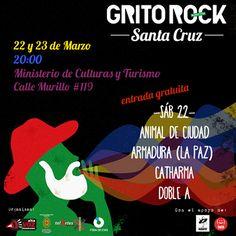 Flyer Grito Rock Santa Cruz 22 de março (CC BY-SA) Grito Rock