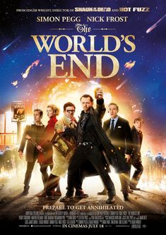 Título: The World's End. Director: Edgar Wright. Guión: Edgar Wright, Simon Pegg. Reparto: Simon Pegg, Nick Frost, Martin Freeman. Duración: 108 minutos.