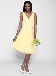 English shopping with LiteMF! Lemon Amber Short Bridesmaid Dress