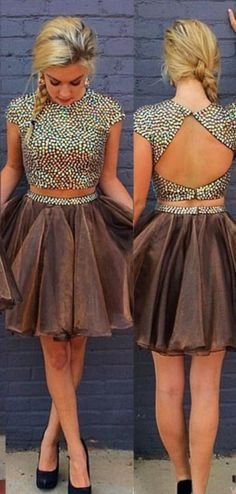 2 Pieces Homecoming Dress,Freshmen Prom Dress, Prom Dress For Teens,MA180