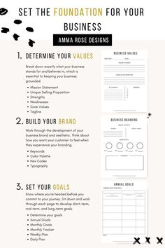 startup page Business Planner Printable Business Planner PDF Business