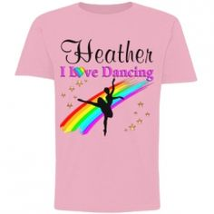 SportsStar Pretty Dancer and Ballerina personalized Tee. http://www.customizedgirl.com/s/JLPOriginals  #Dancer #Dancing #Dancergifts #Ballet #Ballerina #Personalizeddancer
