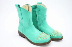 Clic! Special design in turquoise leer