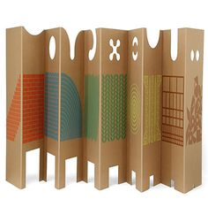 Screen printed room divider