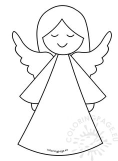 Christmas Angels, Christmas Art, Free Birthday Clipart, Thanksgiving Clipart Images, Happy Birthday Clip Art, Angel Coloring Pages, Paper Angel, Christmas Paintings On Canvas, Christmas Stencils