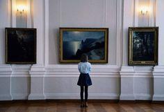 .meilleur moment, réflexion dans un musée