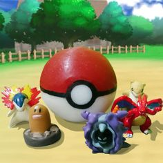 Pokeball Soap! Wash away the fully 3D Pokeball and you'll reveal a surprise Pokemon toy waiting inside