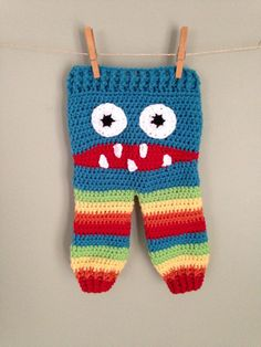 Crochet monster pants by Branch's Creations.