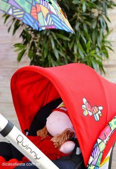 Chá de bebê inspirado na obra de Romero Britto! #BabyShower, #RomeroBritto, #RomeroBrittoParty, #ColorParty