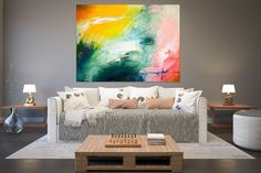 Original Abstract Canvas Art,Large Abstract Canvas Art,canvas large,painting colorful,modern abstract,modern textured FY0035