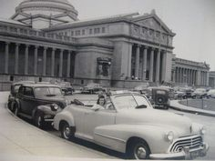 When parking at the Museum of Science and Industry was easy, 1954, Chicago.