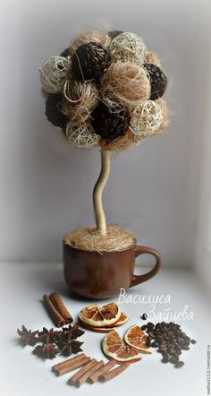 Comfort in home Fall Crafts, Arts And Crafts, Diy Crafts, Coffee Crafts, Jute, Dyi, Shabby Chic, Place Card Holders, My Favorite Things