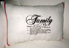 French Country Grain Sack  - Family Definition Lumbar Pillow by frenchcountrydesigns, $26.99 #Etsy